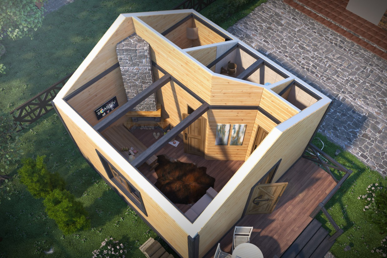 Bathhouse in 3d max corona render image