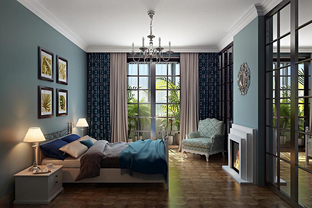 Bedroom in Blender cycles render image