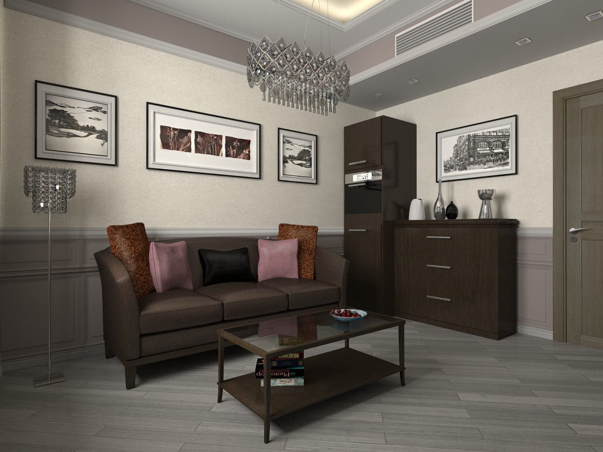 Recreation room in a Director's Office 2 in 3d max vray image
