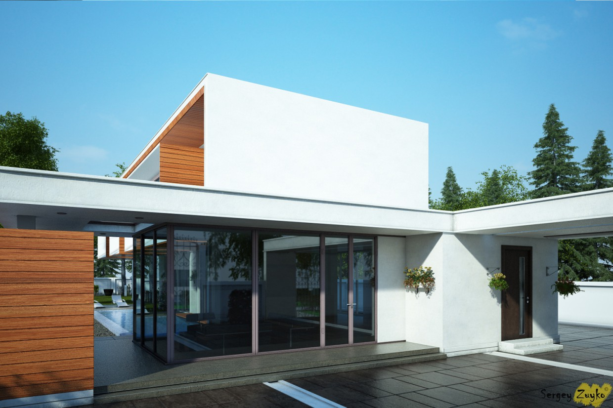 3d visualization of the project in the Again a house) 3d max, render vray of Serj
