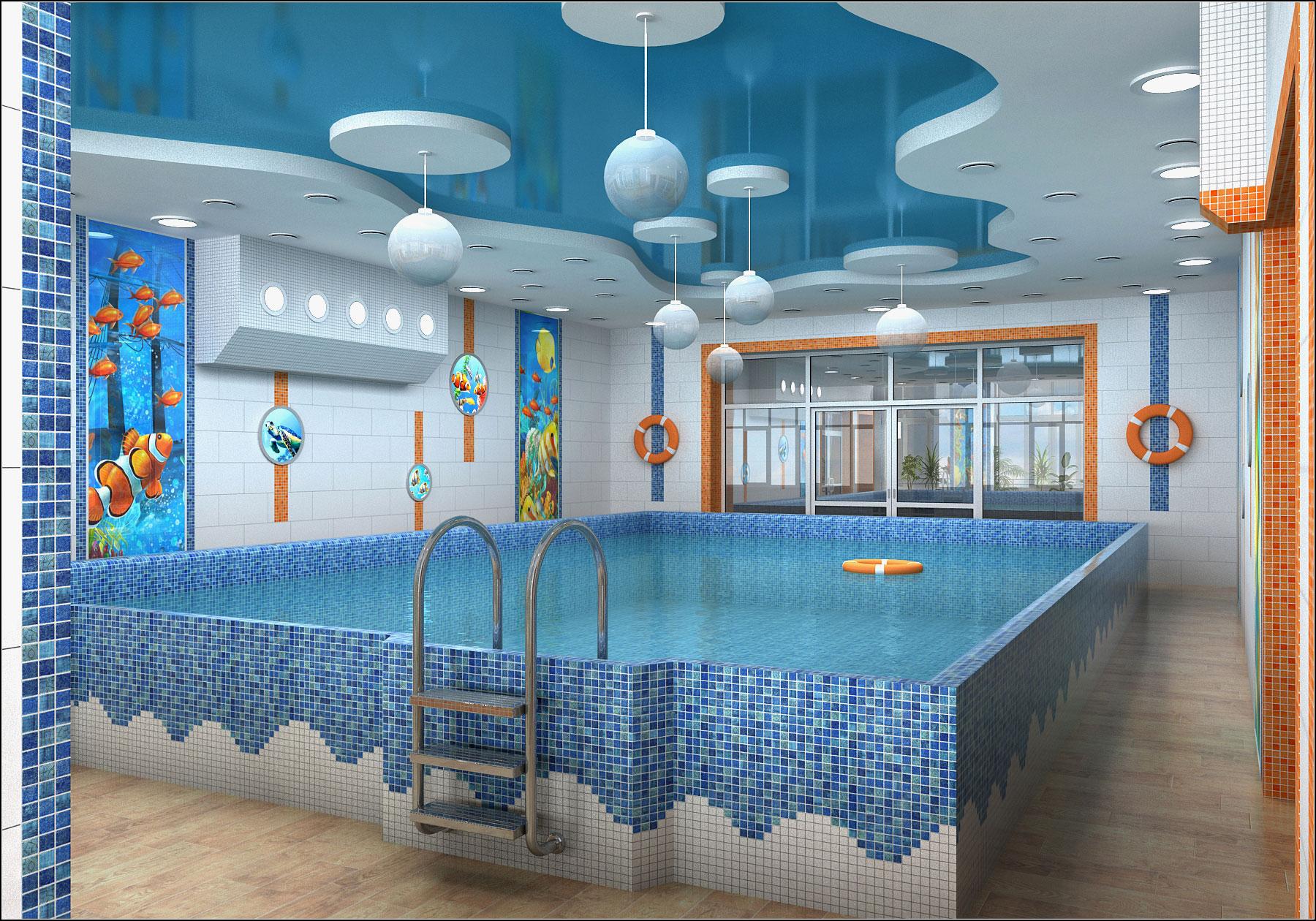 Interior design project for a children's pool in Chernihiv in 3d max vray 1.5 image
