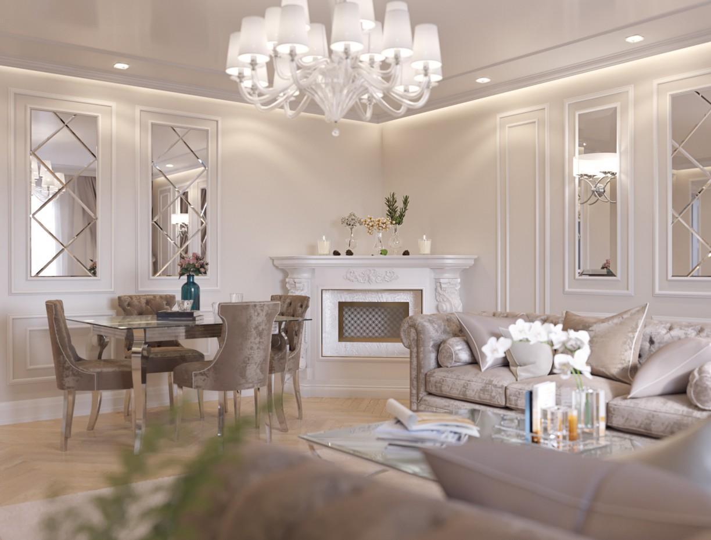 imagen de visualización de la sala de estar en 3d max corona render