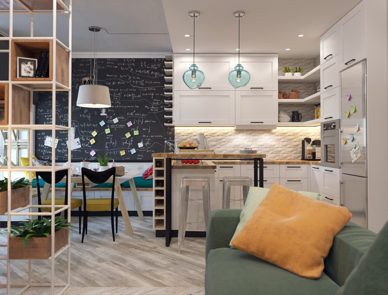Apartment loft in 3d max corona render image
