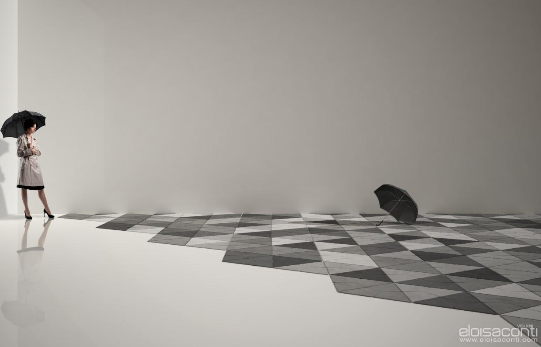 3d визуализация проекта Черные зонты ... в Cinema 4d, рендер vray от eloisa.conti