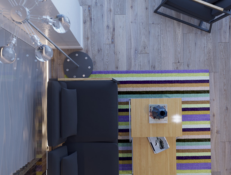 imagen de estudio de cocina en 3d max corona render