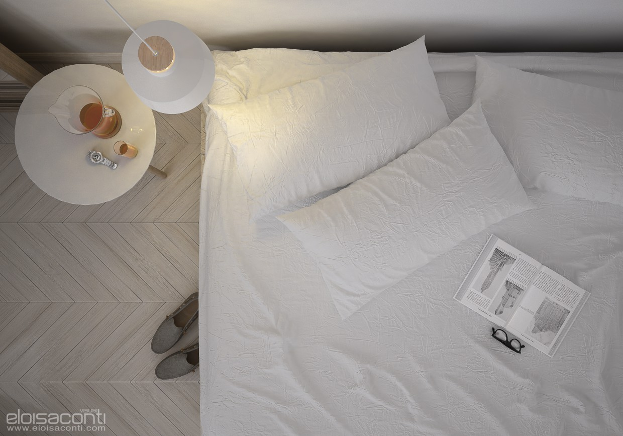 Easy bedroom... in Cinema 4d vray image