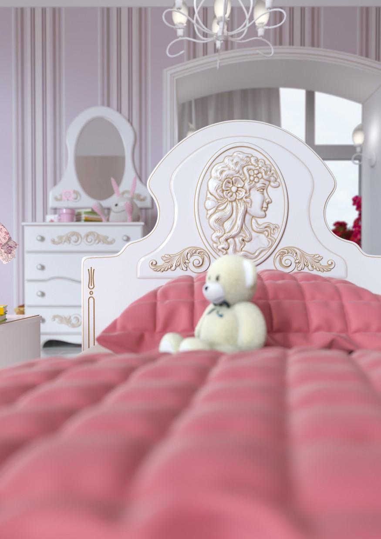 Nursery room for girls in 3d max corona render image