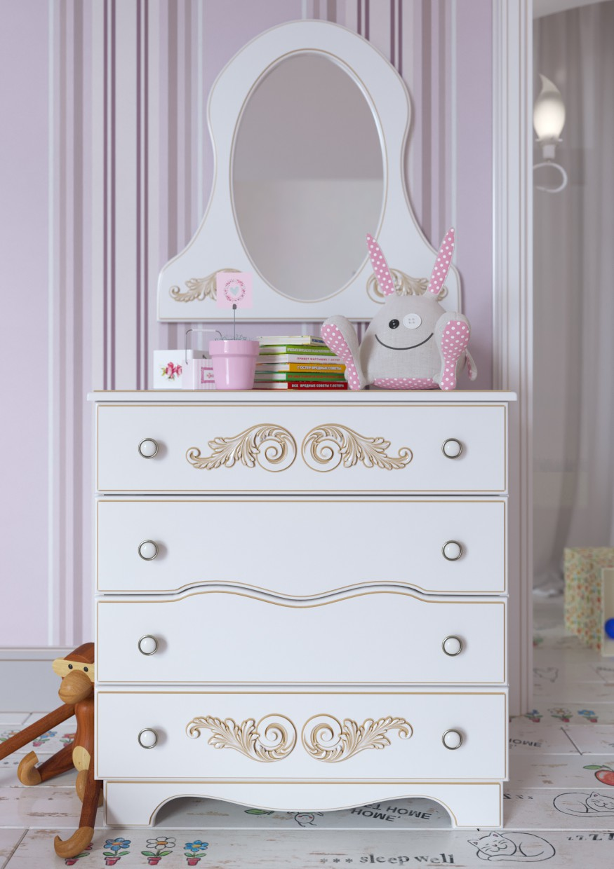 Детская комната для девочки в 3d max corona render изображение