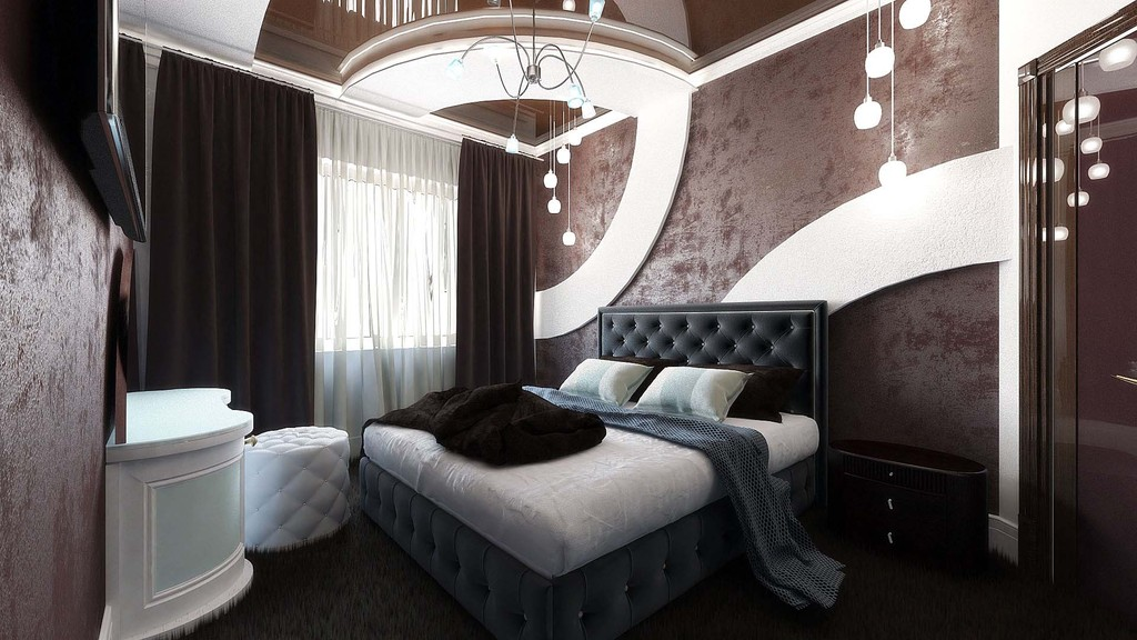 Bedroom in Blender cycles render image