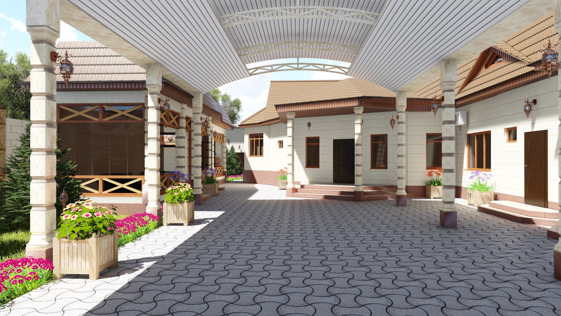 3D Design development of a home, summer terrace and carport. (Video attached) in Cinema 4d Other image