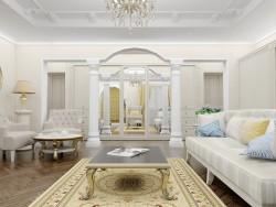 Sala de estar em estilo clássico