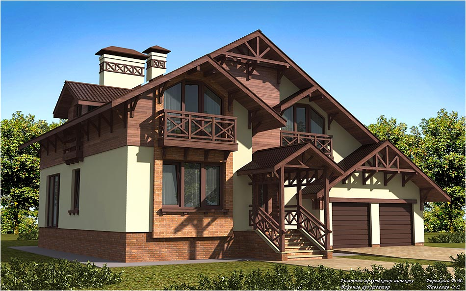 House project in Chernigov in 3d max vray 1.5 image