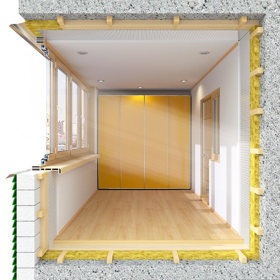 Знову балкони в 3d max corona render зображення