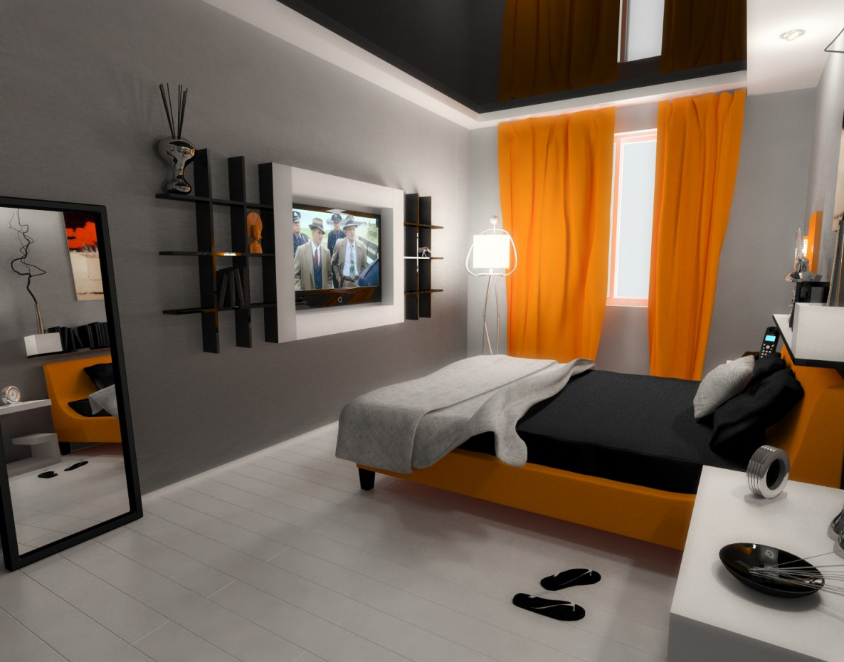 Bedroom 2 in 3d max vray image