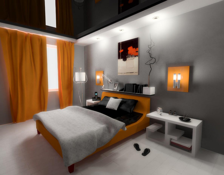 спальня 2 в 3d max vray изображение