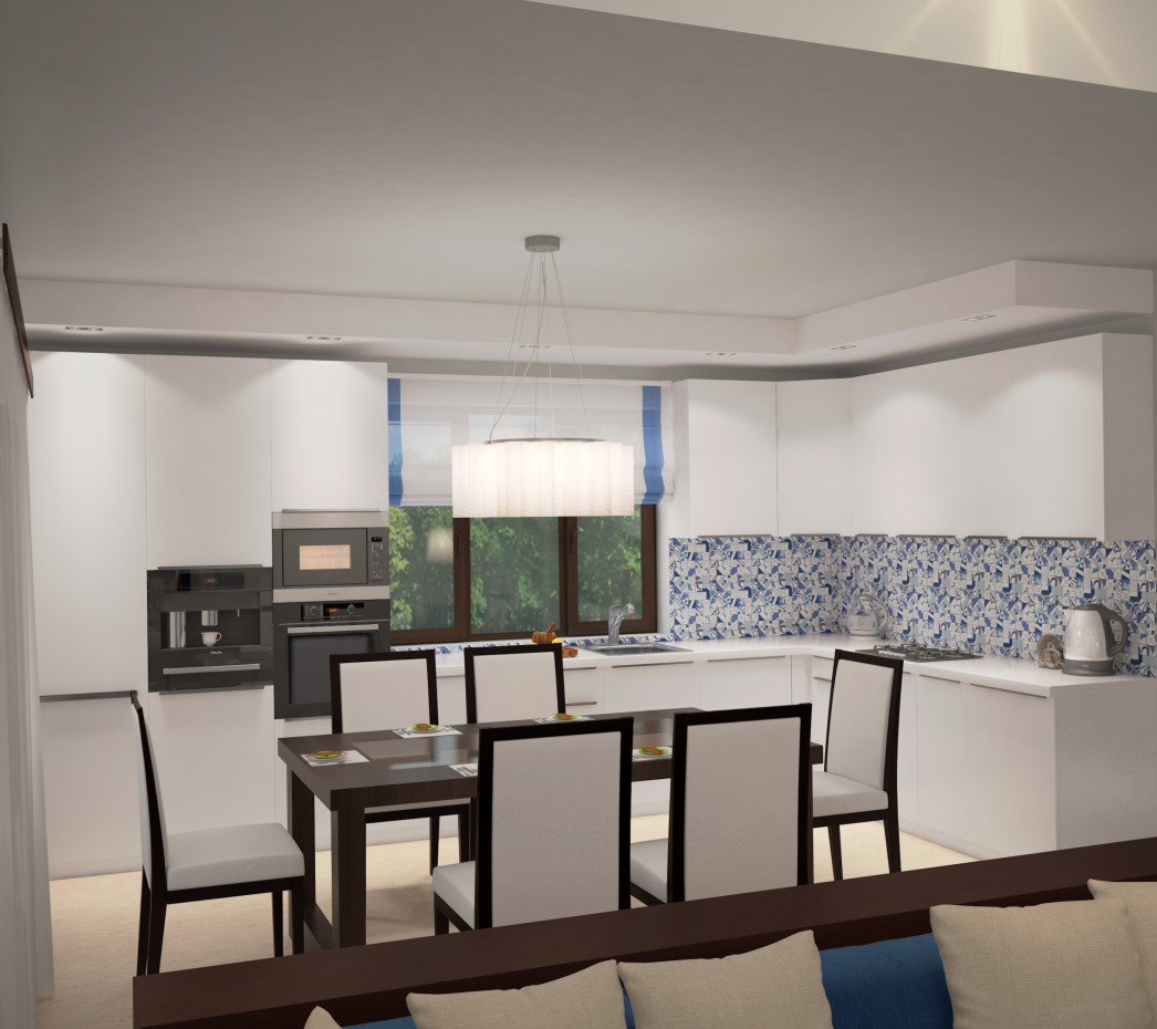 Kitchen in the country house in 3d max vray 3.0 image
