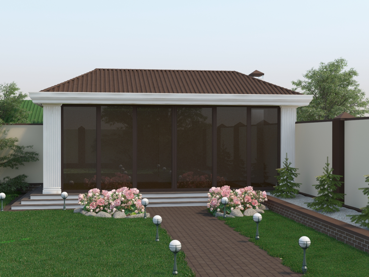 Gazebo in a classic style in 3d max vray 1.5 image