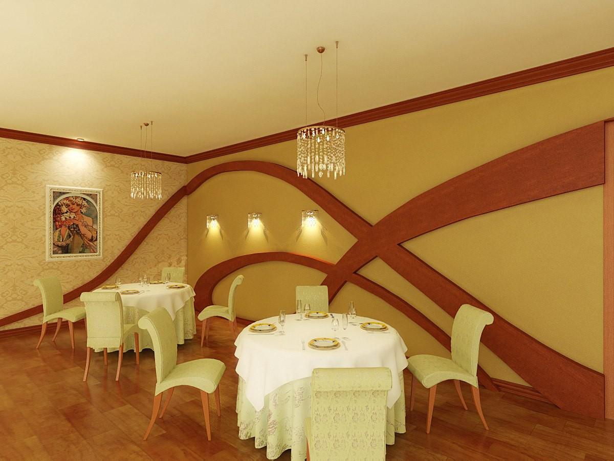 Ресторан продолжение в 3d max vray изображение