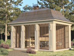 Gazebo of concrete