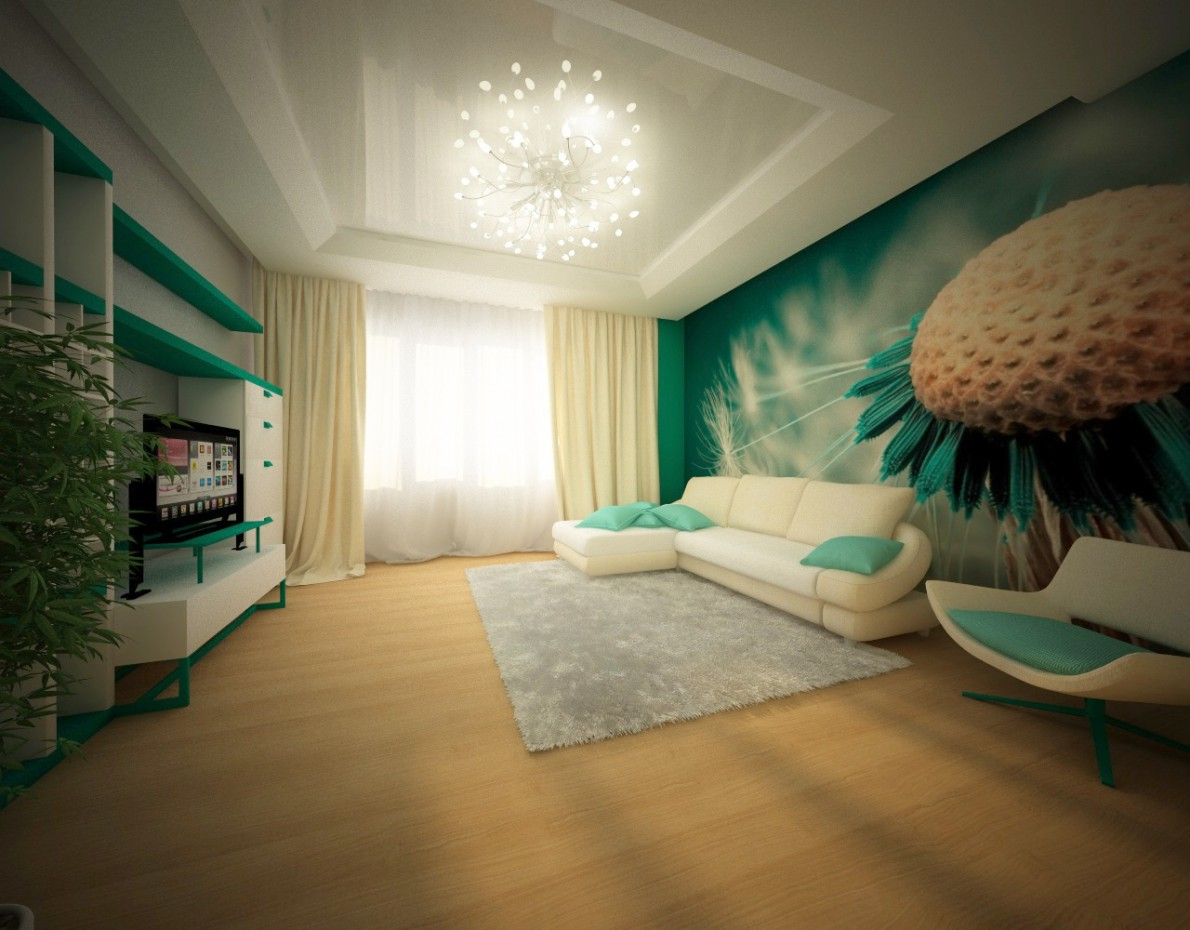 Interior living room by user vikozzz used render vray for Living room cinema 4d