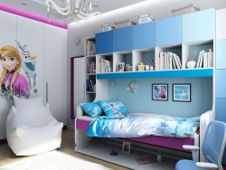 "Design of children's interior in the style of ""Frozen"" in Chernigov"