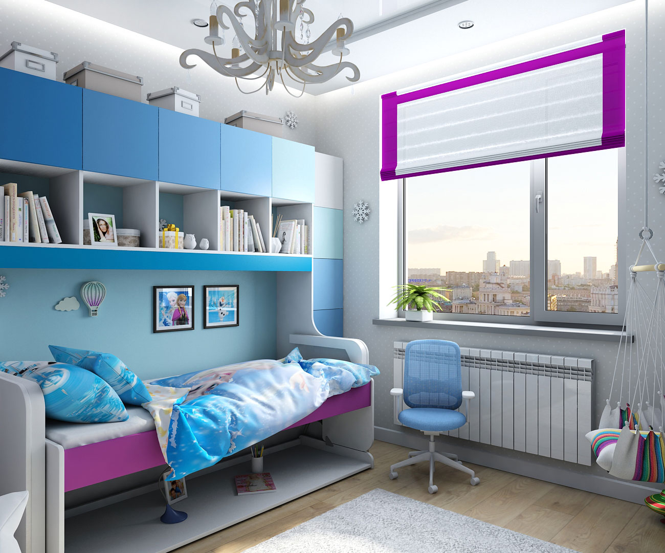 "Design of children's interior in the style of ""Frozen"" in Chernigov in 3d max vray 1.5 image"