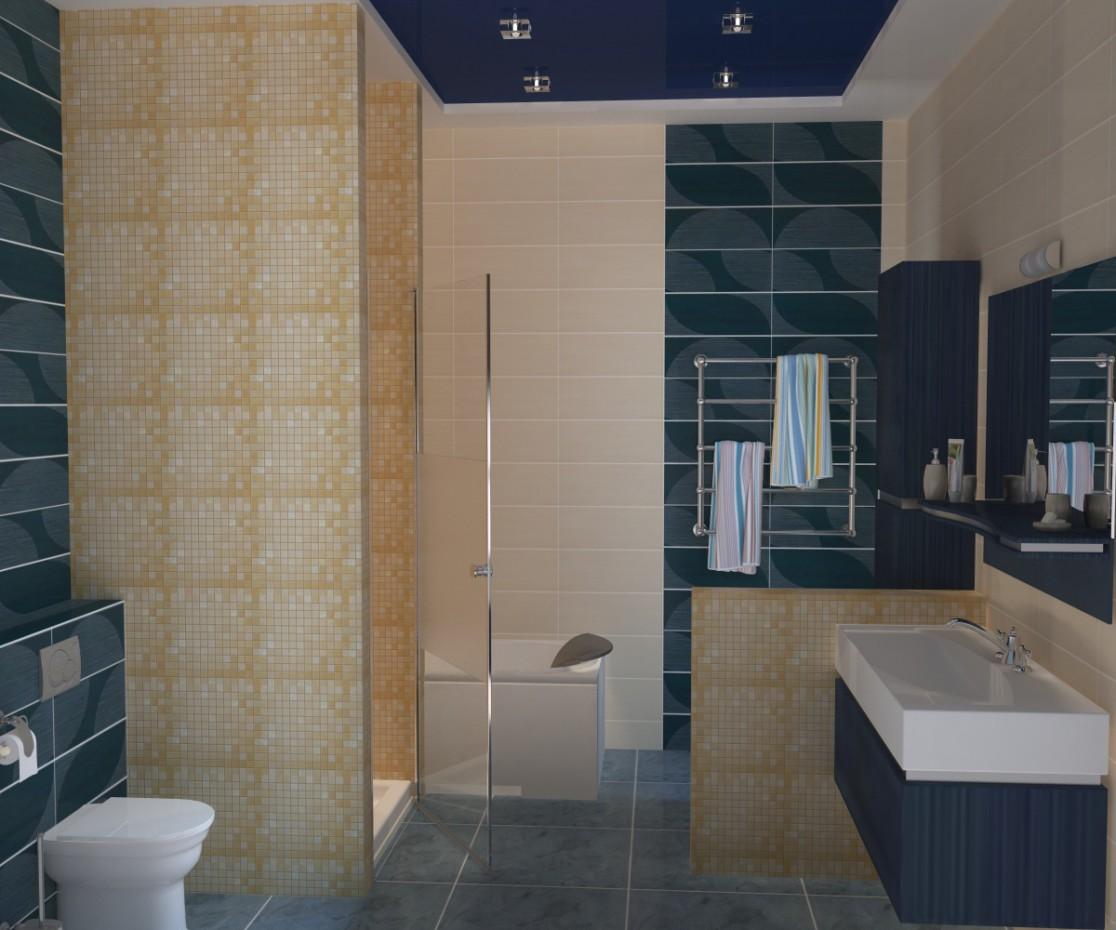 Casa de banho em 3d max vray imagem