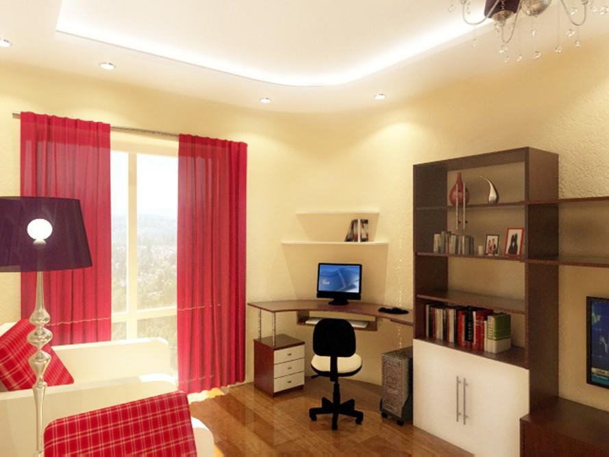 3d визуализация проекта комната нечто ретро в 3d max, рендер vray от Алисса