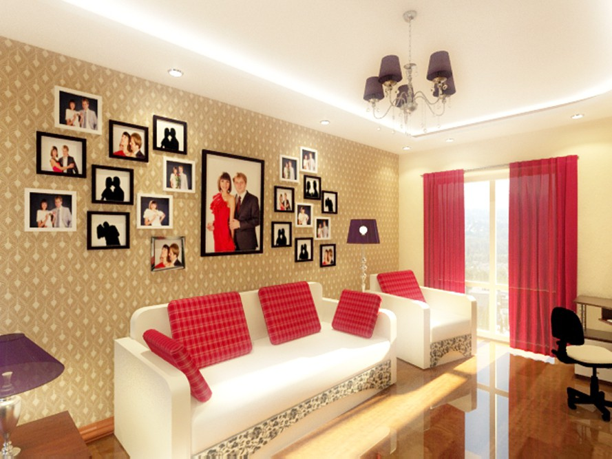 комната нечто ретро в 3d max vray изображение