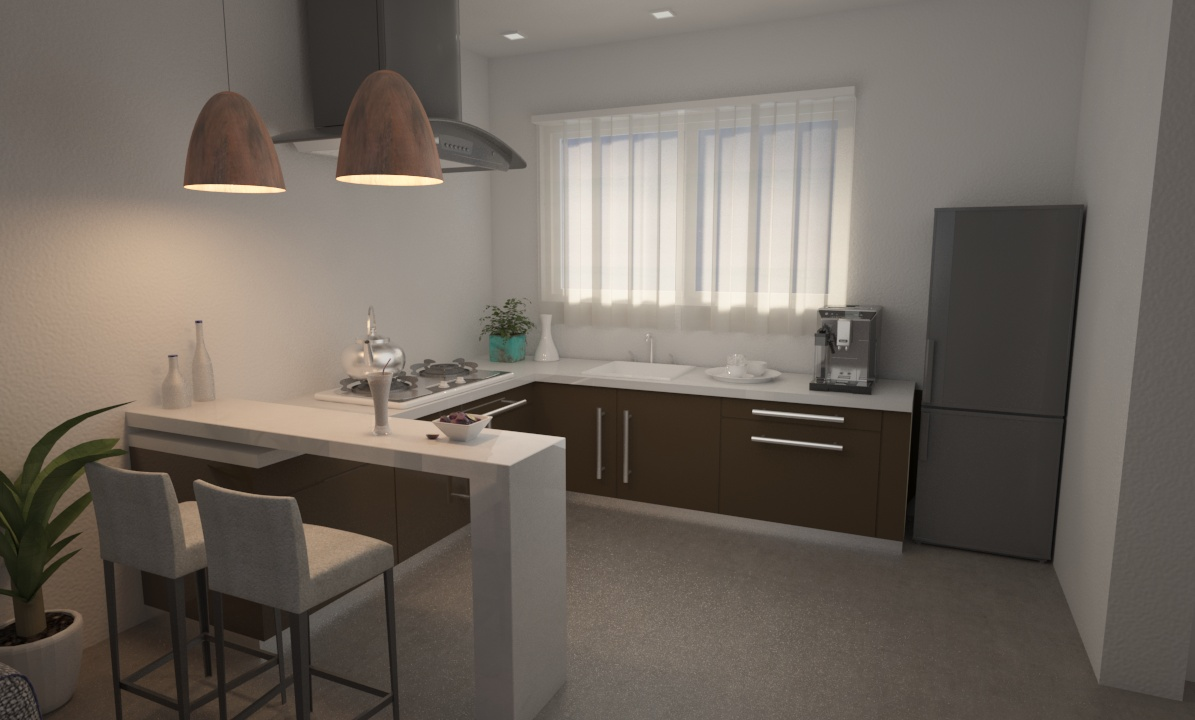 Cocina in 3d max vray 3.0 image