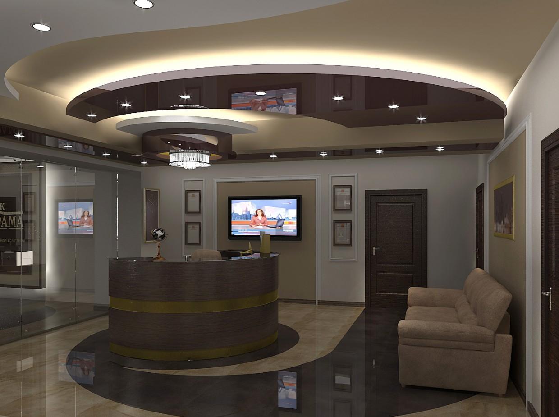 3d визуализация проекта Приемная в офисе в 3d max, рендер vray от Полина Ходина