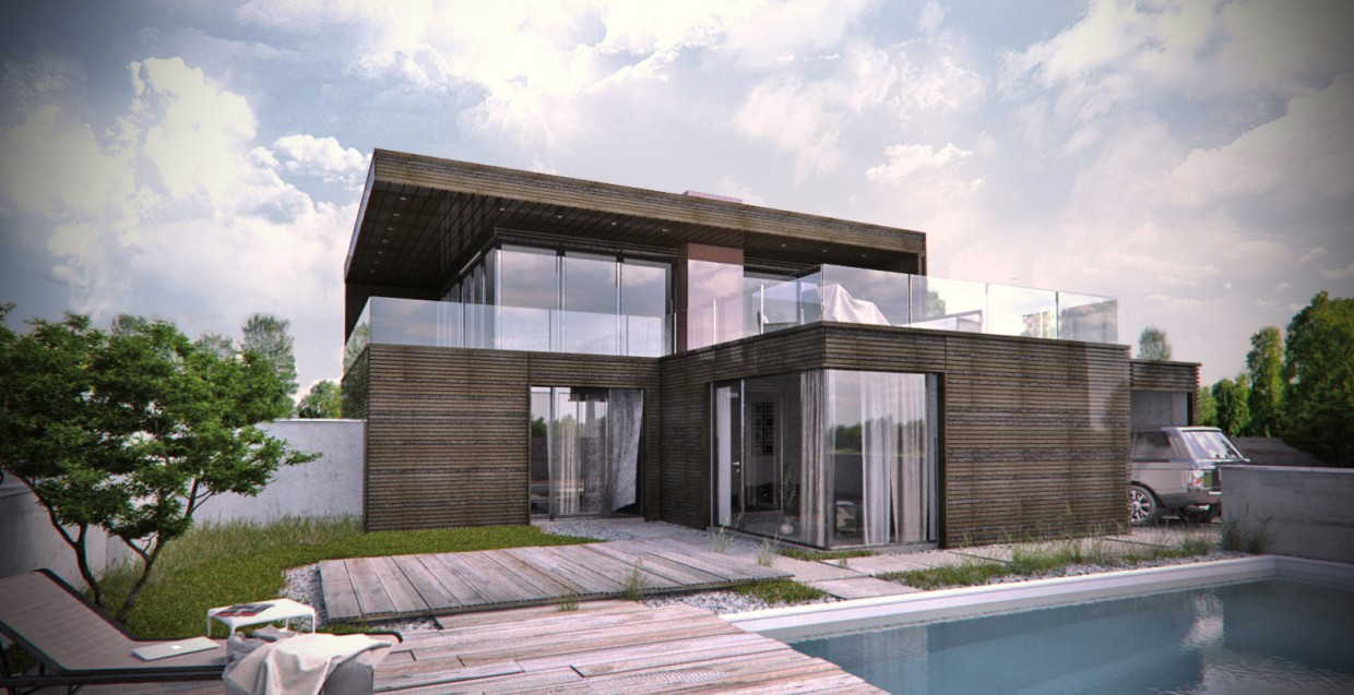 House visualization in 3d max vray image