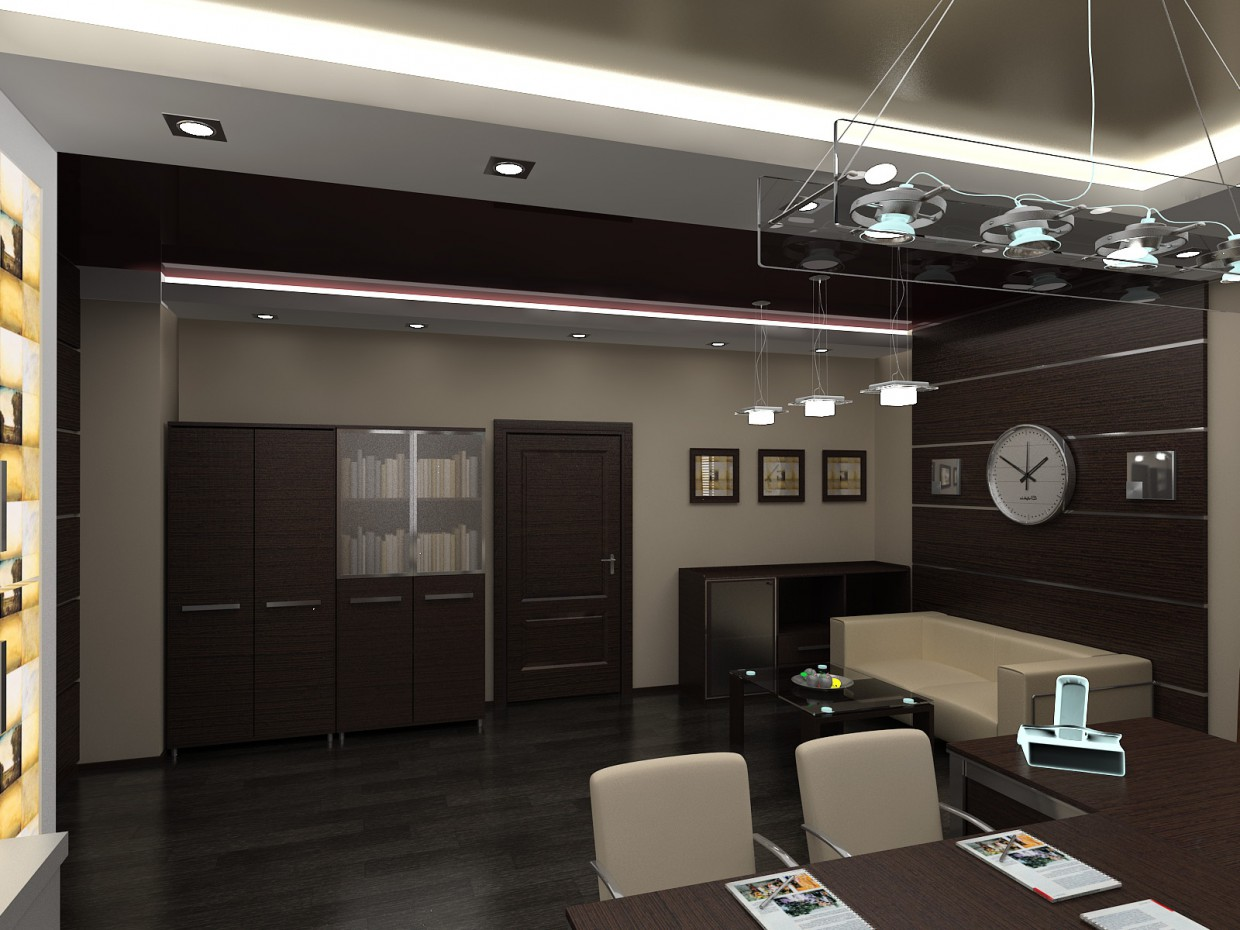 CEOs office in 3d max vray image