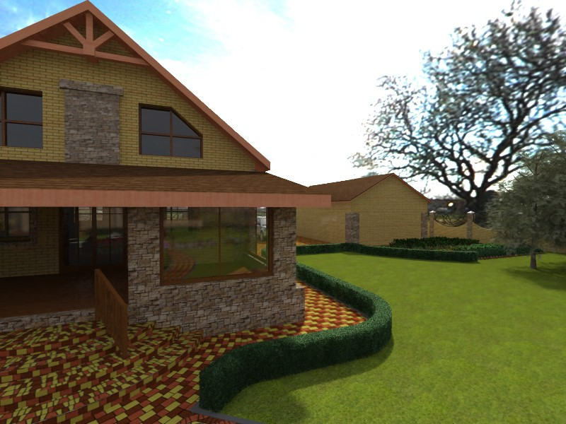 Exterior in 3d max vray image