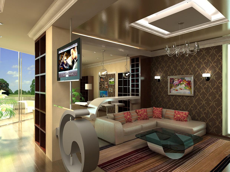 imagen de Oficina en una casa de campo en 3d max vray