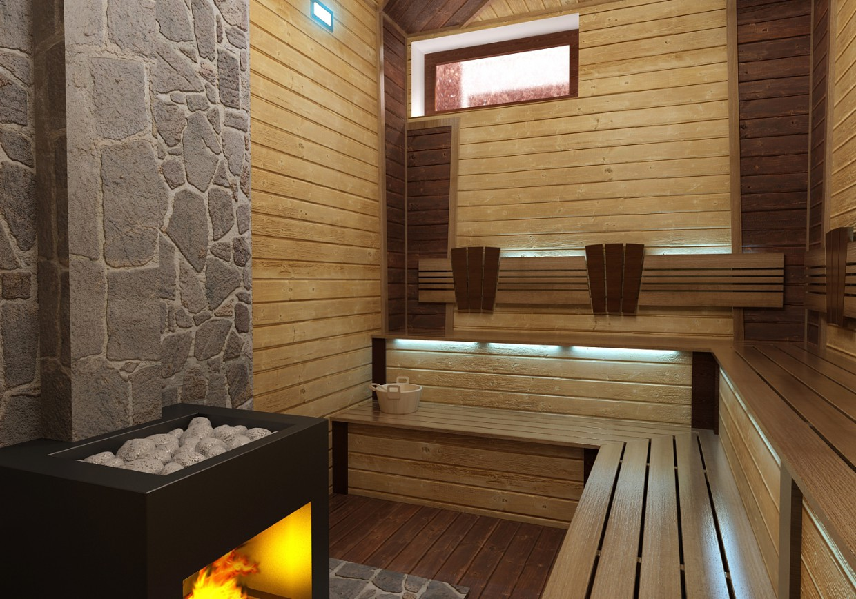 3d visualization of the project in the Sauna 3d max, render vray 2.0 of Farkhad Sharipov