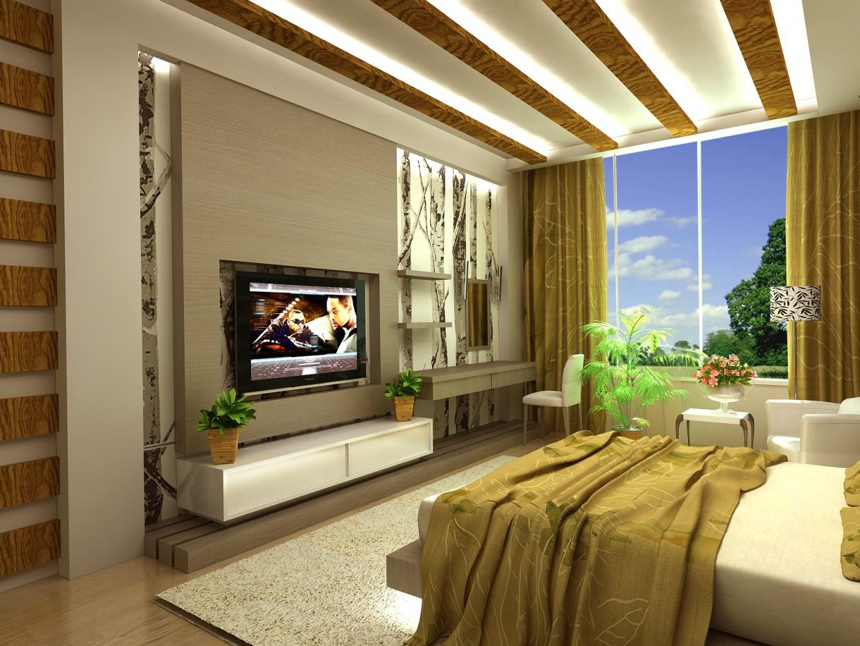 imagen de Habitación en una casa de campo en 3d max vray