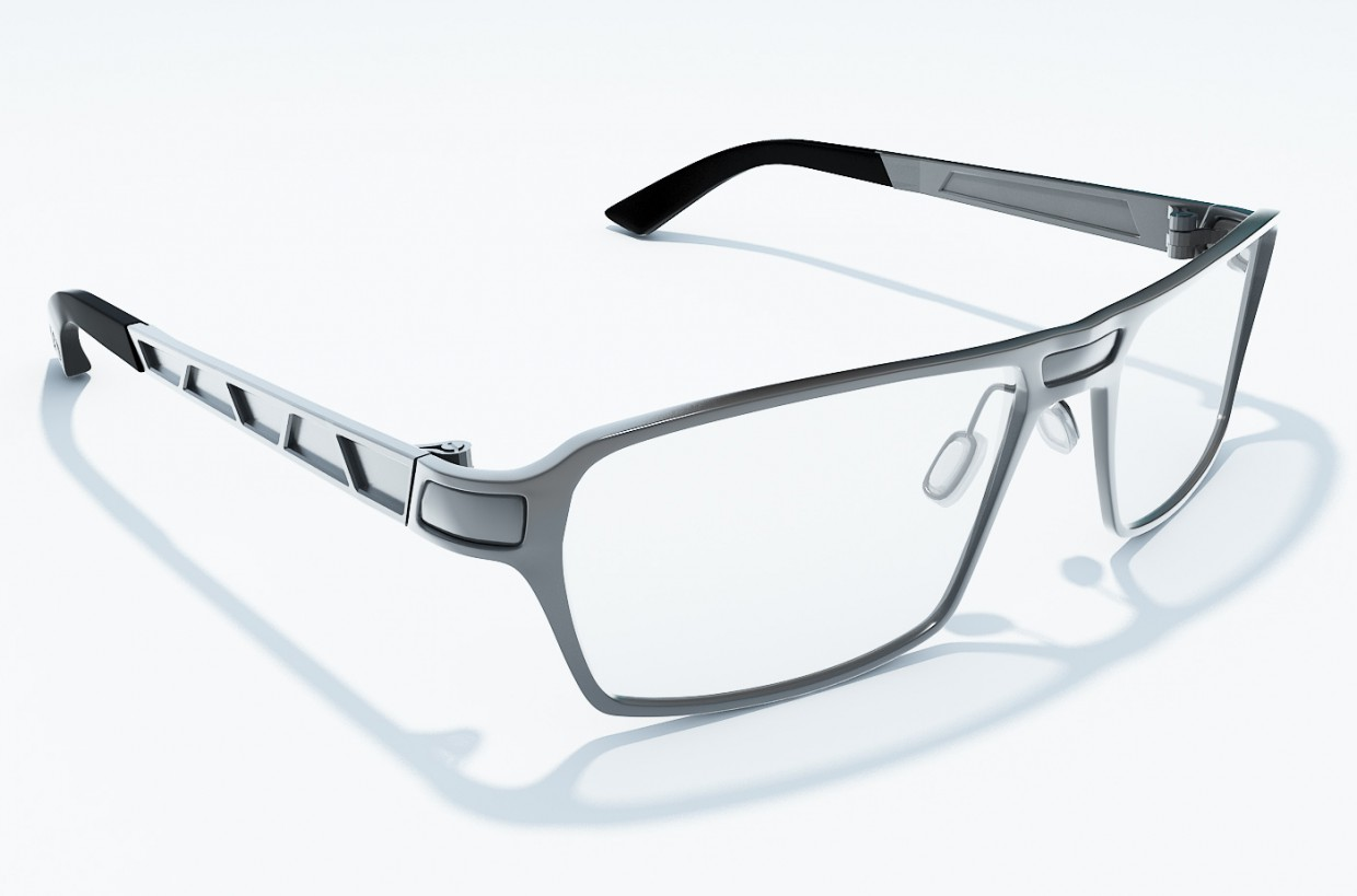 Glasses made with polygonal modelling. in 3d max vray 1.5 image