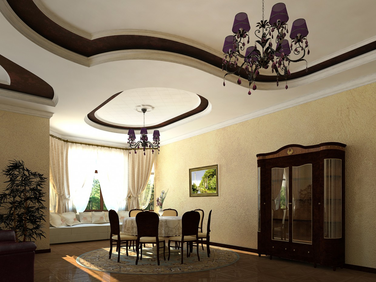 Interior in 3d max maxwell render image