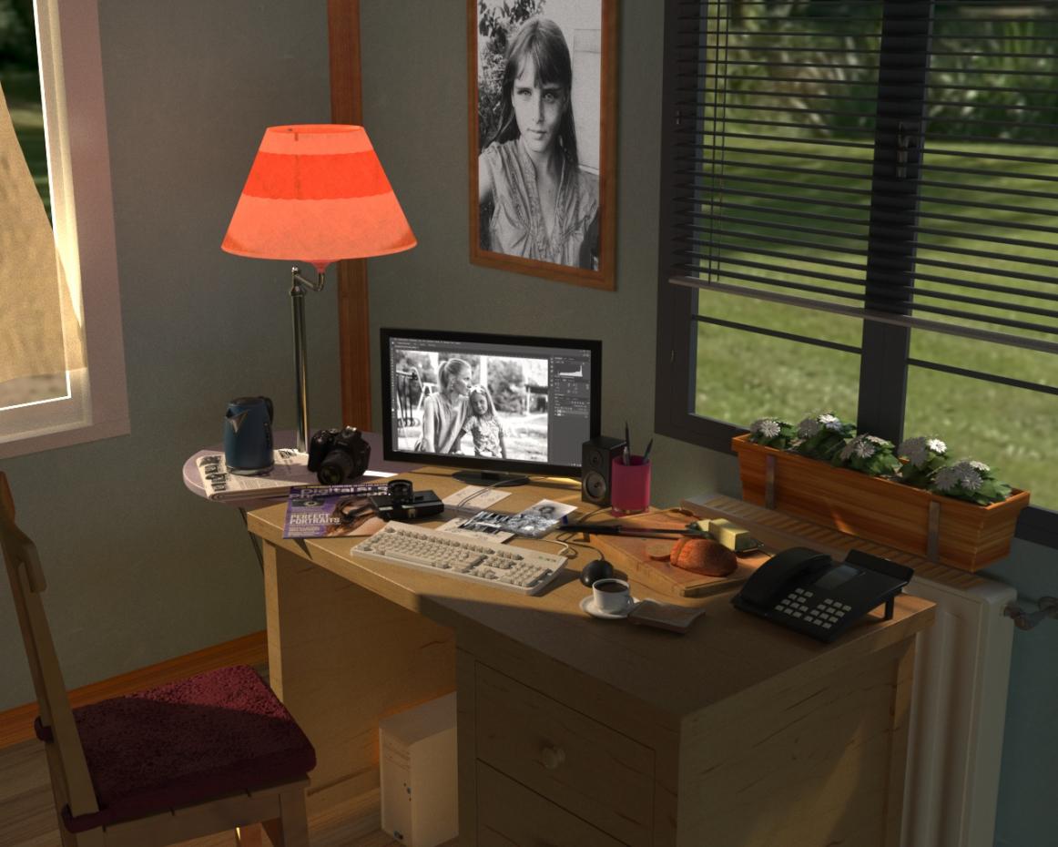 Beginner Photoshop in Cinema 4d corona render image