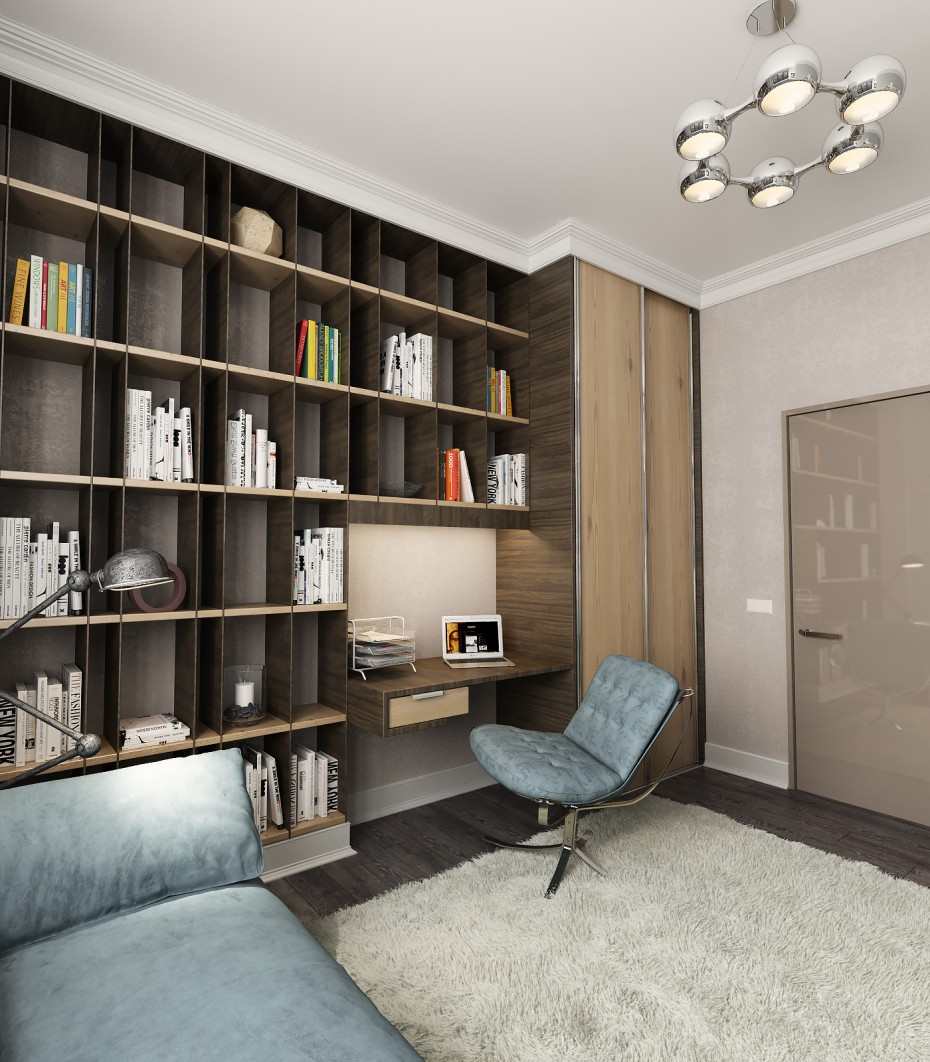 3d visualization of the project in the Room for husband 3d max, render vray of dell_master