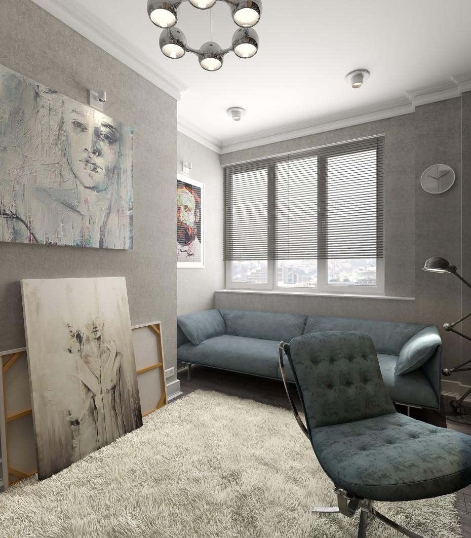 Кімната для чоловіка в 3d max vray зображення