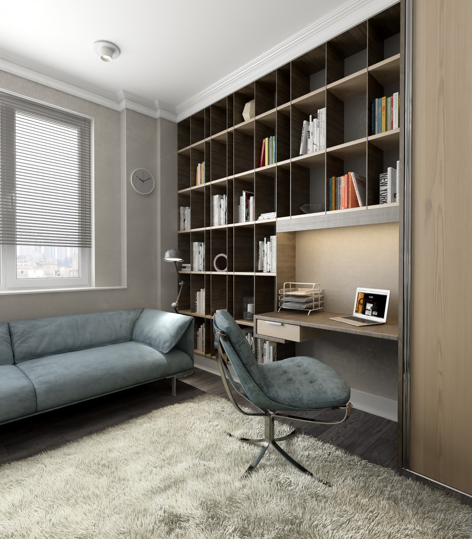 Room for husband in 3d max vray image