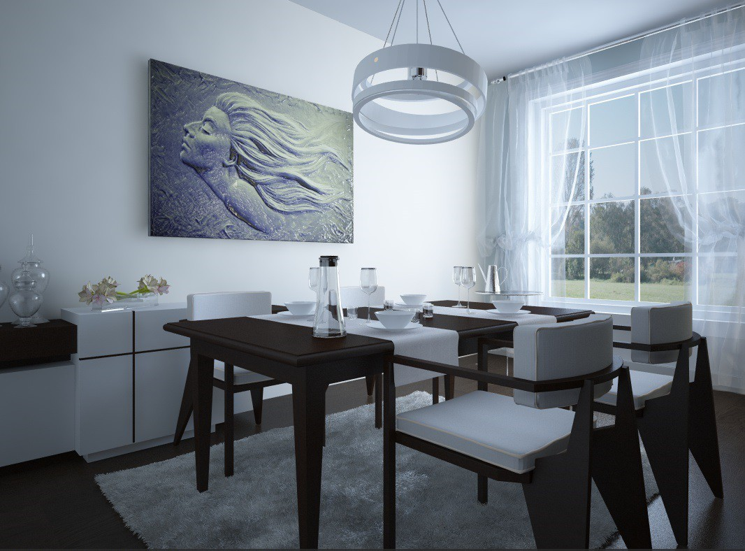 3d visualization of the project in the Elfida Cinema 4d, render vray of elementa