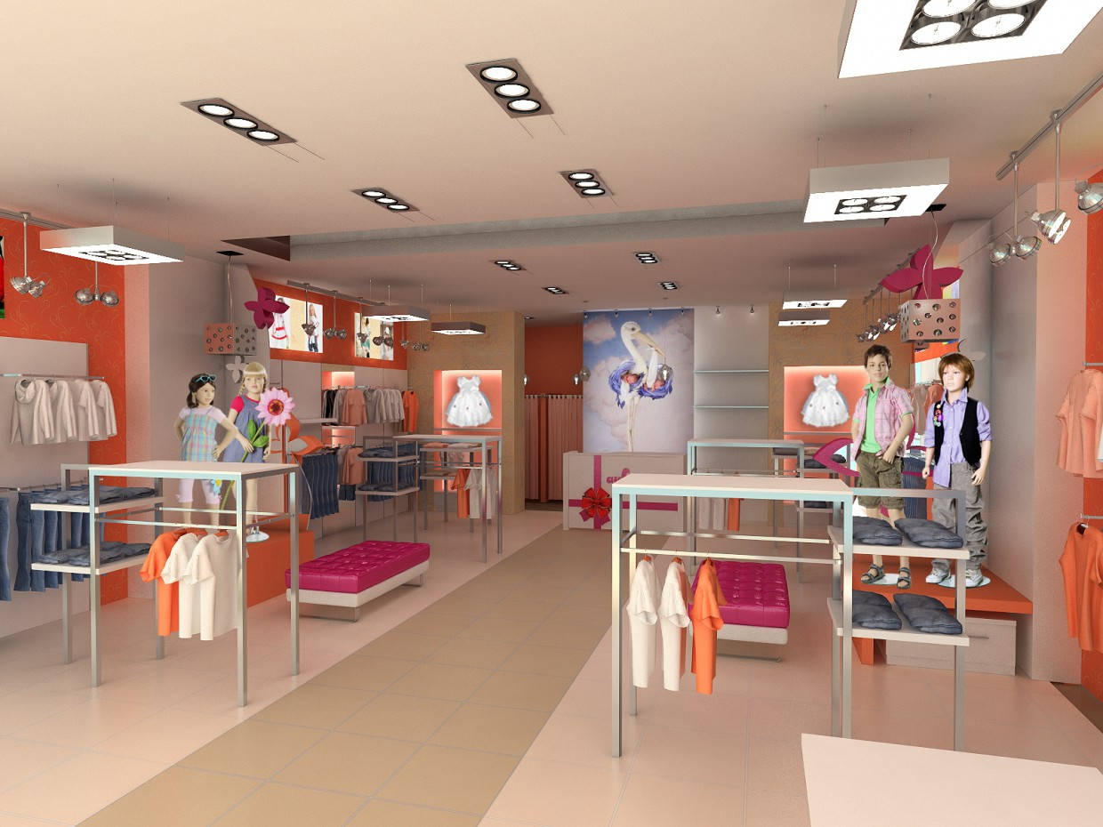 Childrens trading section AISTENOK in 3d max vray image