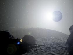 Vista dalla luna