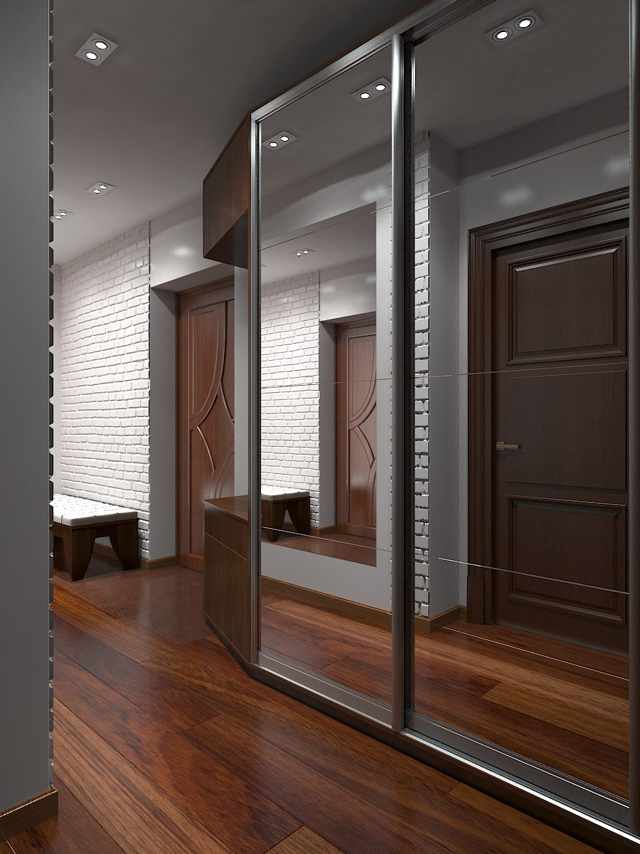Corridor  in  3d max   vray  image