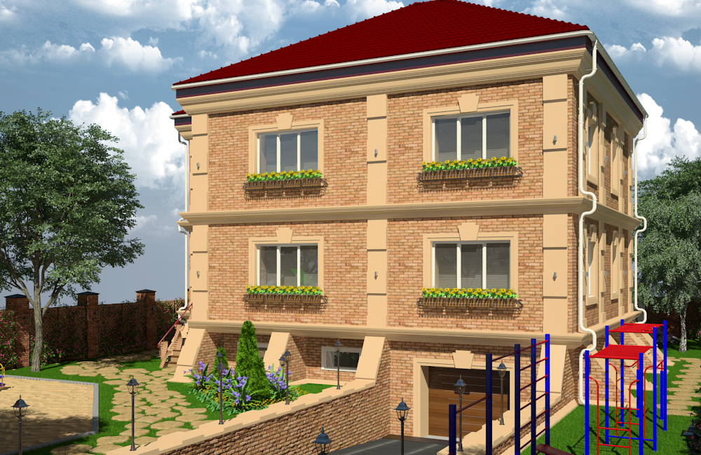 House_day lighting in 3d max vray 3.0 image