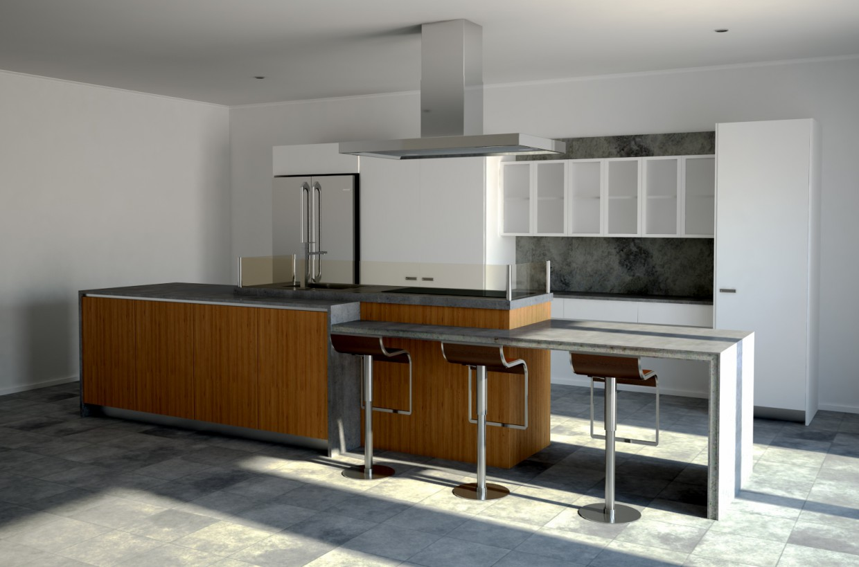 Modern Kitchen 1 in Other thing vray image