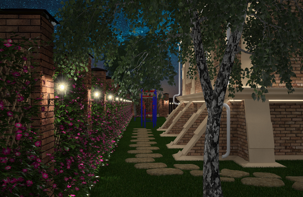 House_night lighting in 3d max vray 3.0 image